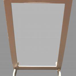 Mampara PVC 100 x 70 cm con patas de sujeción, regulable.